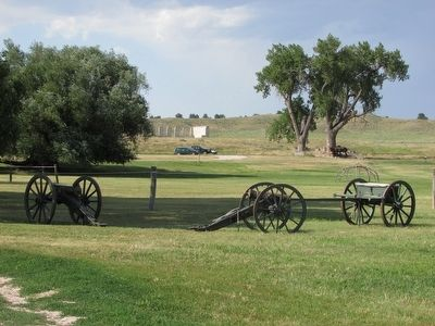 Cannon and Limber at Fort Laramie image. Click for full size.