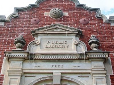 Bedford Public Library Facade Detail image. Click for full size.