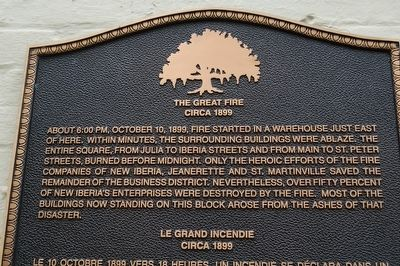 The Great Fire Marker image. Click for full size.