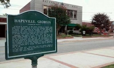 Hapeville, Georgia Marker image. Click for full size.