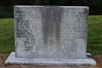 Major John Lewis Marker image. Click for full size.