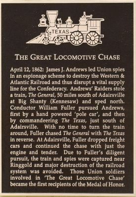 The Great Locomotive Chase Marker image. Click for full size.