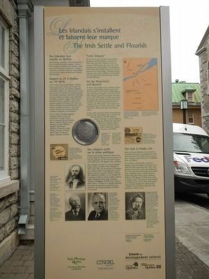 Irish Roots in Old Québec Marker, Side B image. Click for full size.