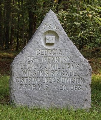 25th Georgia Infantry Marker image. Click for full size.