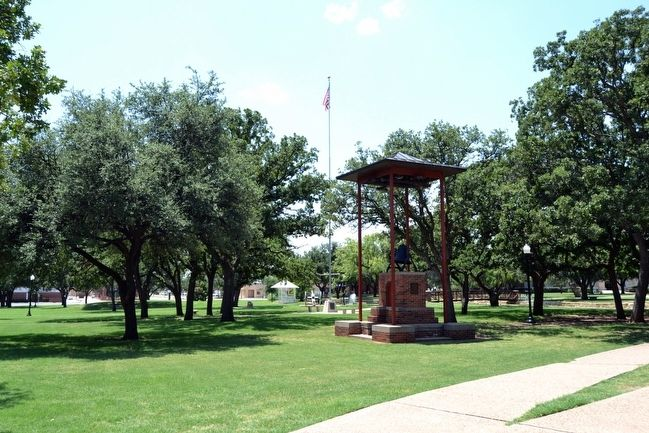 The Hardin-Simmons Bell East of Reflection Pond image. Click for full size.