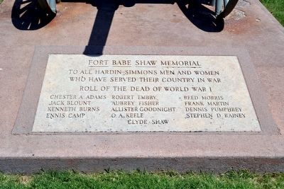 Fort Babe Shaw Memorial Marker image. Click for full size.