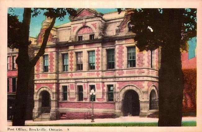 <i>Post Office, Brockville, Ontario.</i> image. Click for full size.