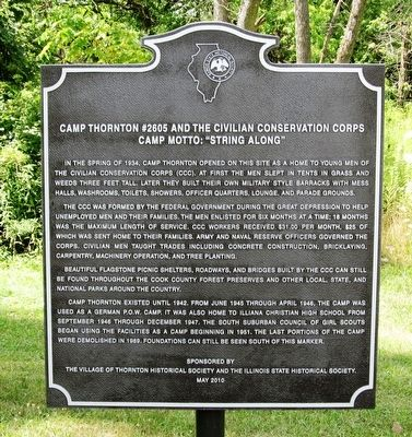 Camp Thornton #2605 and the Civil Conservation Corps Marker image. Click for full size.