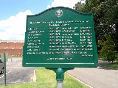 The Lindenwood Christian Church Marker image. Click for full size.