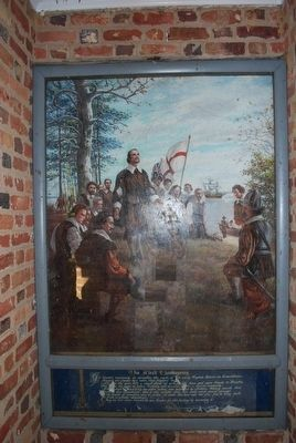 Capt. John Woodliffe First Thanksgiving Mural image. Click for full size.