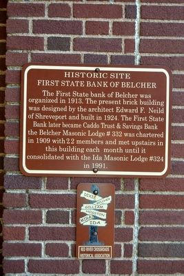 First State Bank of Belcher Marker image. Click for full size.
