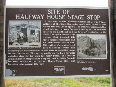 Site of Halfway House Stage Stop Marker image. Click for full size.