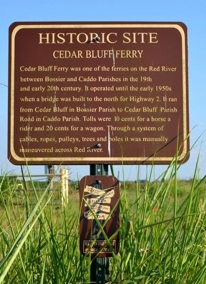 Cedar Bluff Ferry Marker image. Click for full size.