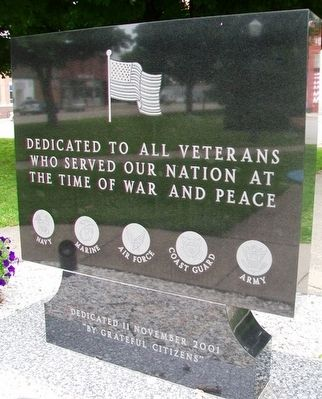 "Company ""F"" Memorial Park Veterans Memorial Marker (front) image. Click for full size."