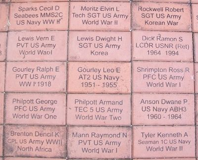 "Company ""F"" Memorial Park Veterans Memorial Pavers image. Click for full size."