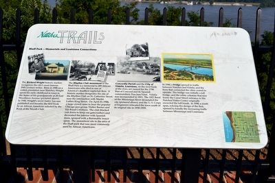 Bluff Park - Memorials and Louisiana Connections Marker image. Click for full size.