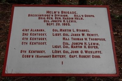 Helm's Brigade Marker image. Click for full size.