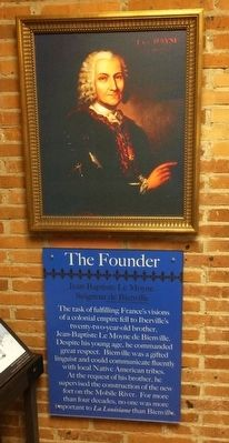 The Founder - Jean Baptiste Le Moyne de Bienville image. Click for full size.