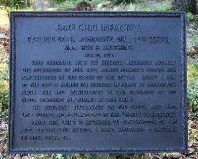 94th Ohio Infantry Marker image. Click for full size.