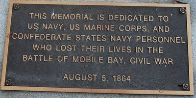 Battle of Mobile Bay Memorial Marker image. Click for full size.