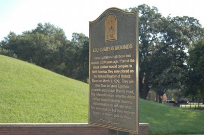 LSU Campus Mounds Marker image. Click for full size.