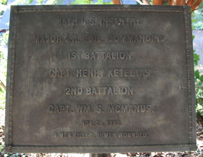 15th U.S. Infantry Marker image. Click for full size.