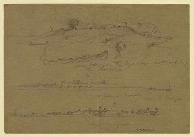 Fort Gaines & Fort Morgan Drawing image. Click for full size.