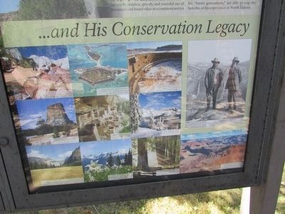. . . and His Conservation Legacy (Bottom of Marker) image. Click for full size.