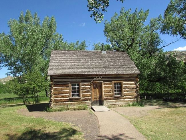 Theodore Roosevelt's Maltese Cross Ranch Cabin image. Click for full size.