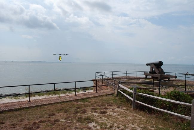 Mobile Bay with Fort Morgan in the Distance image. Click for full size.