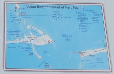 Union Bombardment of Fort Powell image. Click for full size.