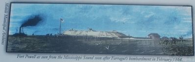 Fort Powell as seen from Mississippi Sound image. Click for full size.