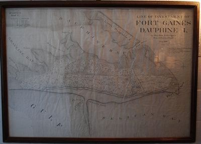 Line of Investment of Fort Gaines Dauphine I, by Maj. Granger's Expeditionary Corps image. Click for full size.