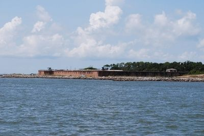 Fort Gaines from Mobile Bay image. Click for full size.