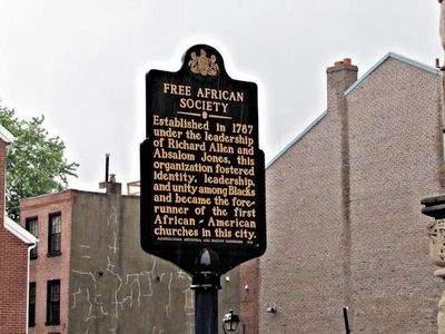 Free African Society Marker image. Click for full size.