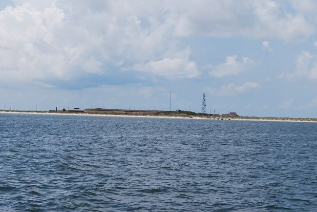 Fort Morgan from Mobile Bay image. Click for full size.