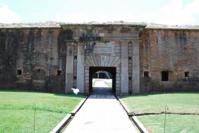 Fort Morgan Entrance image. Click for full size.