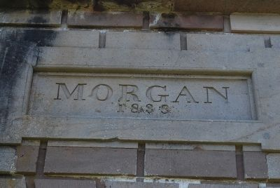 Fort Morgan Entrance Marker image. Click for full size.