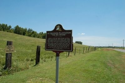 St. Delphine Plantation Marker image. Click for full size.