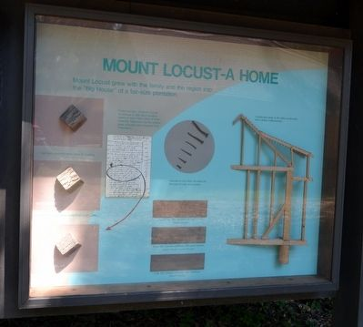 Mount Locust - A Home Marker image. Click for full size.