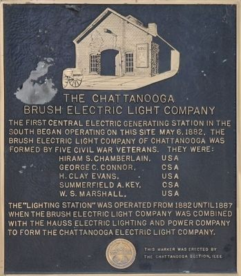 The Chattanooga Brush Electric Light Company Marker image. Click for full size.