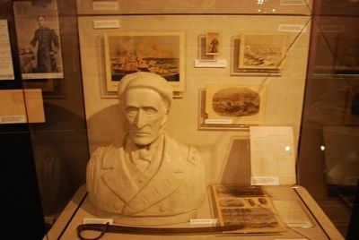 The Museum of Mobile- Franklin Buchanan & David Farragut Display image. Click for full size.
