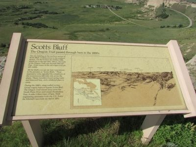 Scotts Bluff Marker image. Click for full size.