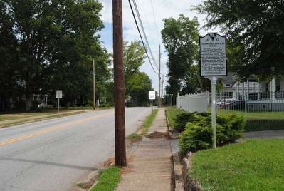 Chamberlain-Kay House Marker<br>Front, Looking East Along River Street image. Click for full size.