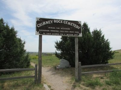 Chimney Rock Cemetery Marker image. Click for full size.