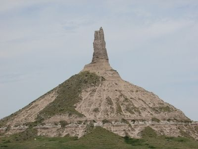 Chimney Rock seen from the Cemetery image. Click for full size.