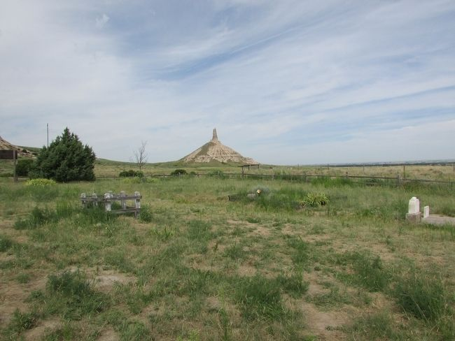 Chimney Rock seen from near the Marker image. Click for full size.