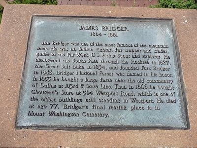 James Bridger Marker image. Click for full size.