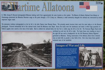 Wartime Allatoona Marker image. Click for full size.