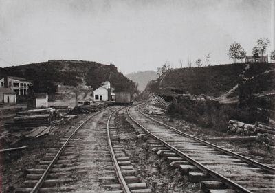 George Barnard Photograph of the Deep Cut at Allatoona, 1866 image. Click for full size.